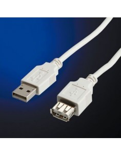 Value Kabel USB 2.0 A M/F 1.8m